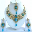 Indian Bridal Saree Jewelry Set Multicolor Stones NP-233