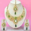 Indian Bridal Saree Jewelry Set Multicolor Stones NP-236