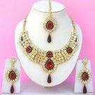 Indian Bridal Saree Jewelry Set Multicolor Stones NP-237