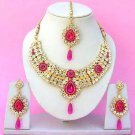 Indian Bridal Saree Jewelry Set Multicolor Stones NP-238