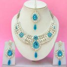 Indian Bridal Saree Jewelry Set Multicolor Stones NP-239
