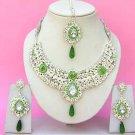 Indian Bridal Saree Jewelry Set Multicolor Stones NP-242