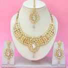 Indian Bridal Saree Jewelry Set Multicolor Stones NP-243