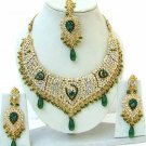 Indian Bridal Saree Jewelry Set Multicolor Stones NP-246