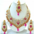Indian Bridal Saree Jewelry Set Multicolor Stones NP-250
