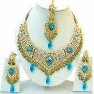 Indian Bridal Saree Jewelry Set Multicolor Stones NP-251