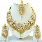 Indian Bridal Saree Jewelry Set Multicolor Stones NP-252