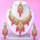 Indian Bridal Saree Jewelry Set Multicolor Stones NP-253