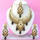 Indian Bridal Saree Jewelry Set Multicolor Stones NP-254