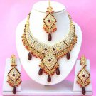Indian Bridal Saree Jewelry Set Multicolor Stones NP-261