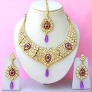 Indian Bridal Saree Jewelry Set Multicolor Stones NP-262