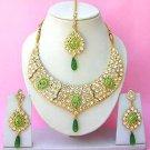 Indian Bridal Saree Jewelry Set Multicolor Stones NP-264