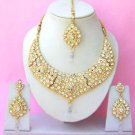 Indian Bridal Saree Jewelry Set Multicolor Stones NP-265