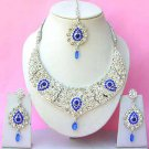 Indian Bridal Saree Jewelry Set Multicolor Stones NP-266