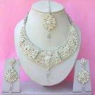 Indian Bridal Saree Jewelry Set Multicolor Stones NP-267