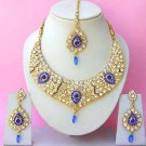 Indian Bridal Saree Jewelry Set Multicolor Stones NP-268
