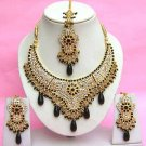 Indian Bridal Saree Jewelry Set Multicolor Stones NP-273