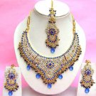 Indian Bridal Saree Jewelry Set Multicolor Stones NP-277