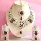Indian Bridal Saree Jewelry Set Multicolor Stones NP-280