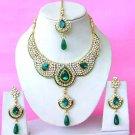 Indian Bridal Saree Jewelry Set Multicolor Stones NP-282