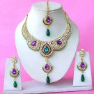 Indian Bridal Saree Jewelry Set Multicolor Stones NP-288