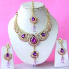 Indian Bridal Saree Jewelry Set Multicolor Stones NP-289