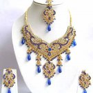 Indian Bridal Sari Jewelry Set Multicolor Stones NP-295