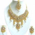 Indian Bridal Sari Jewelry Set Multicolor Stones NP-297