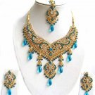 Indian Bridal Wedding Jewelry Set Multicolor Stones NP-298