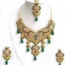 Indian Bridal Wedding Jewelry Set Multicolor Stones NP-300
