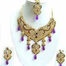 Indian Bridal Wedding Jewelry Set Multicolor Stones NP-301