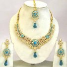 Indian Bridal Jewelry Necklace Set Multicolor Stones VS-1630