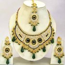 Indian Bridal Jewelry Necklace Set Multicolor Stones VS-1642