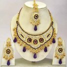 Indian Bridal Jewelry Necklace Set Multicolor Stones VS-1643
