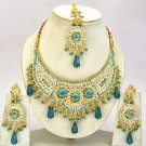 Indian Bridal Jewelry Necklace Set Multicolor Stones VS-1644