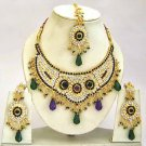 Indian Bridal Jewelry Necklace Set Multicolor Stones VS-1645