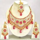 Indian Bridal Jewelry Necklace Set Multicolor Stones VS-1647