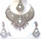 Platinum Jewelry Necklace Set Bridal with Diamond Stones NP-17