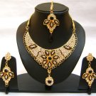 Indian Bridal Wedding Jewelry Set Multi color Stones NP-362