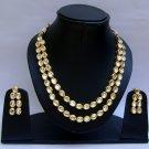 Indian Bridal Wedding Jewelry Set Clear Diamond Stones NP-395