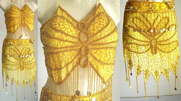 Belly Dancer Costumes Yellow Dress A