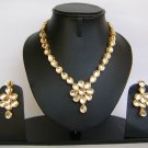 Indian Bridal Wedding Jewelry Set Diamond and Clear color stones NP-457
