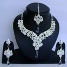Indian Bridal Wedding Jewelry Set Diamond and Clear color stones NP-460