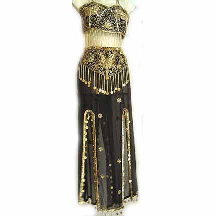 Belly Dance Costume Dress C Black