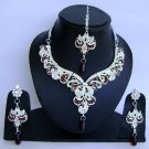 Indian Bridal Wedding Jewelry Set Diamond and Maroon color stones NP-462