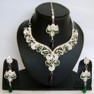 Indian Bridal Wedding Jewelry Set Diamonds and Multicolor stones NP-467