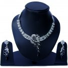 Indian Bridal Wedding Jewelry Set Diamonds and Black color stones NP-523