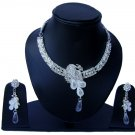 Indian Bridal Wedding Jewelry Set Diamonds and Clear stones NP-525