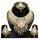 Indian Bridal Wedding Jewelry Set Diamonds and Clear stones NP-602