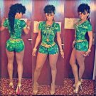 Natural Green Vitality Featured Romper